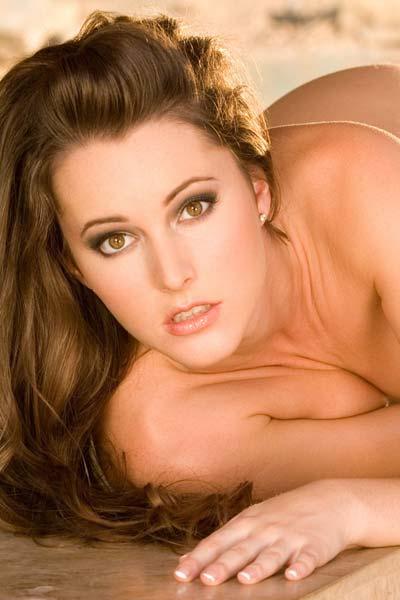 Model Erica Ellyson in Erica Ellyson unstrings her bikini
