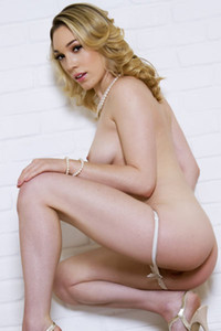 Model Lily LaBeau in Milky Maiden